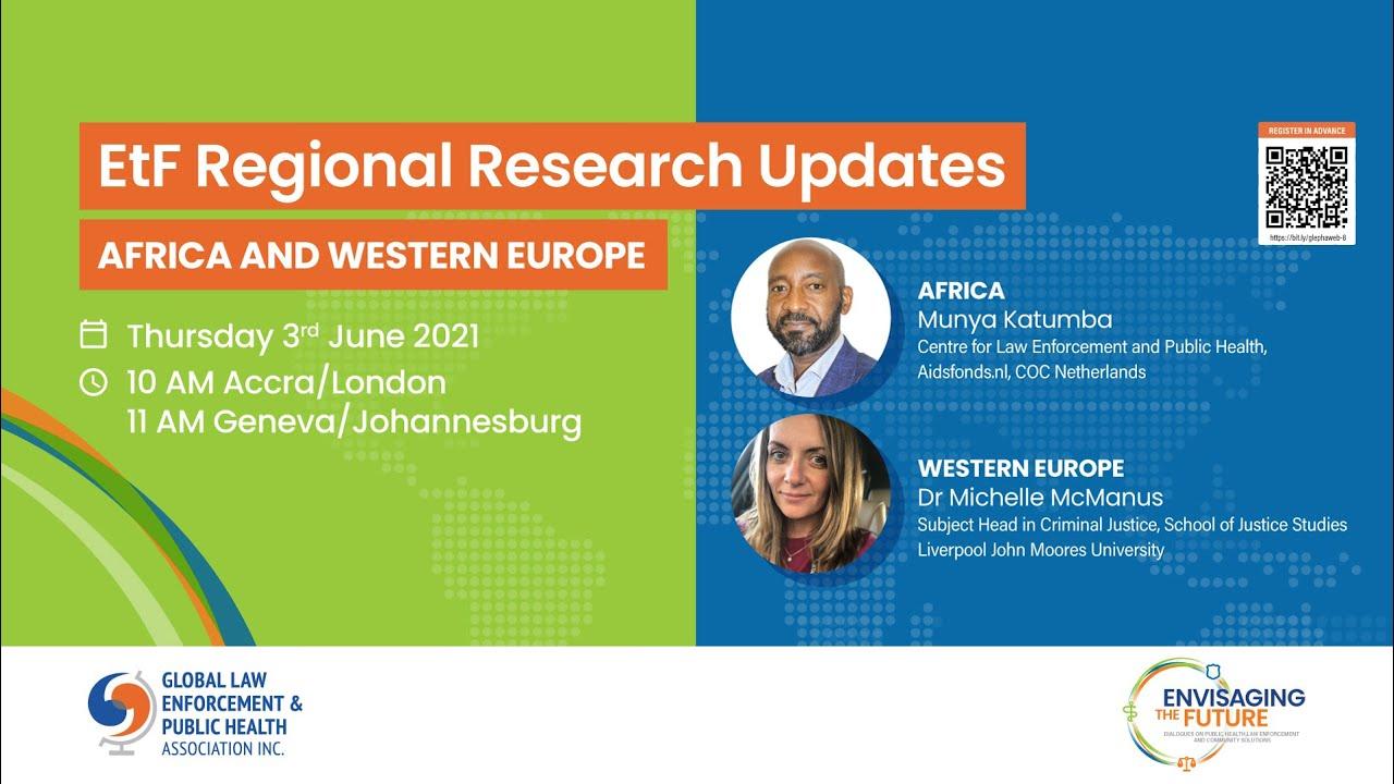 ETF REGIONAL RESEARCH UPDATES: WEBINAR 1– AFRICA AND WESTERN EUROPE